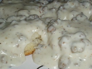 Best Biscuits and Gravy at Ten O Six Beach Road Bistro in Kill Devil Hills