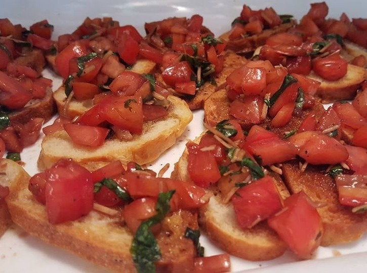 Bruschetta Appetizer Outer Banks Personal Chef / Wedding Catering