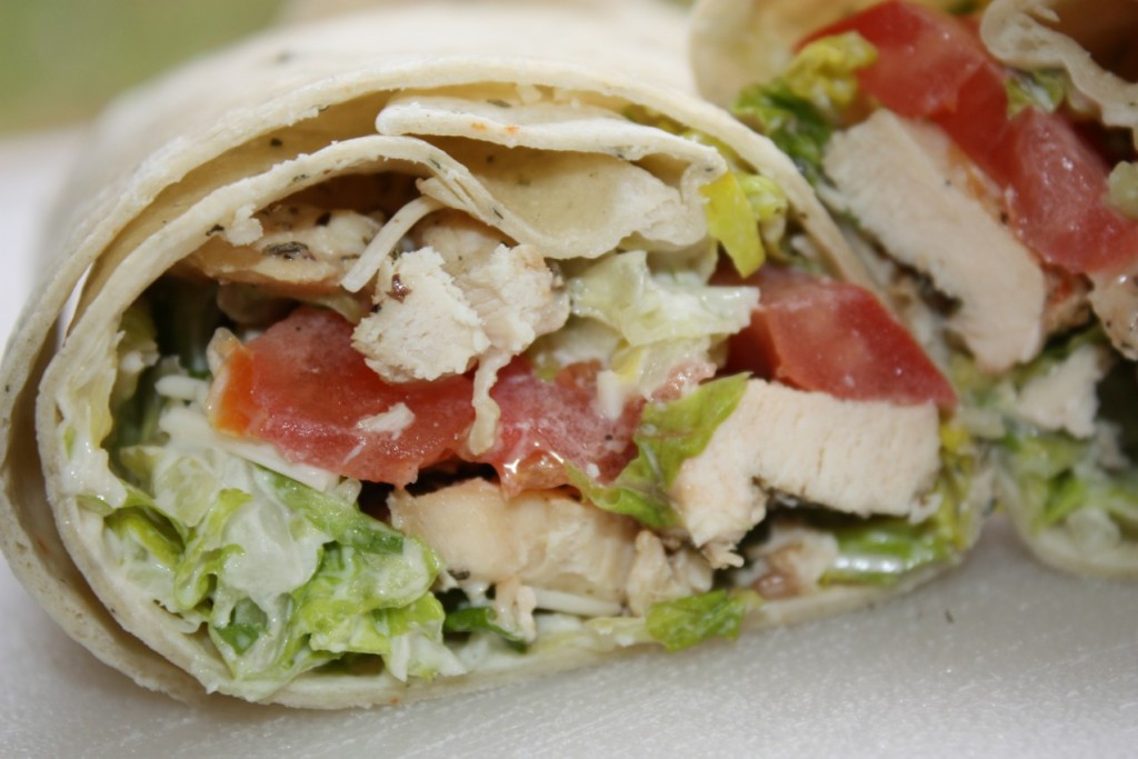 Chicken Caesar Wrap Ten O Six Beach Road Bistro