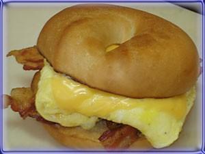 Classic with meat breakfast sandwich