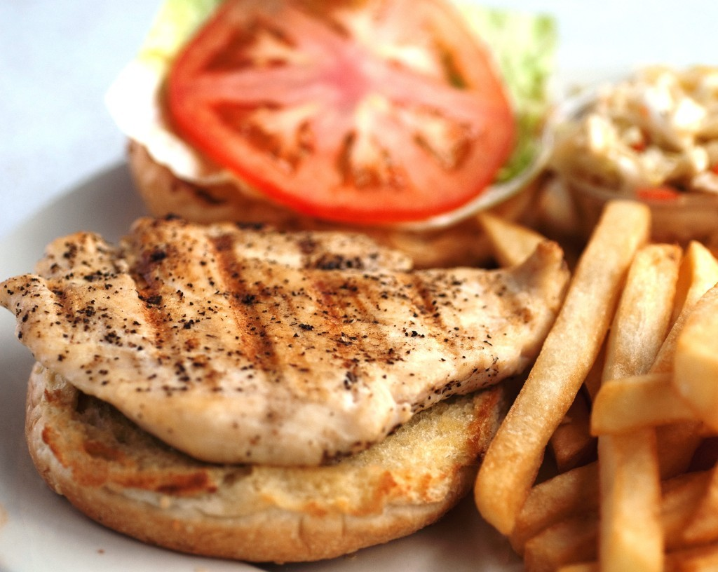 Load up your grilled chicken sandwich at Ten O Six Beach Road Bistro