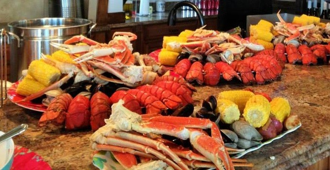 Family Style Clam bake for your Outer Banks Wedding