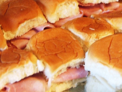 Shaved Honey Ham Rolls Outer Banks Catering