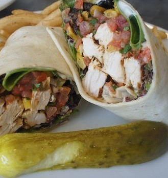 Southwestern Chicken Wrap at Ten O Six Beach Road Bistro