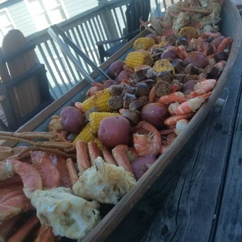 Outer Banks Clam Bake cooked by Ten O Six Personal Chef