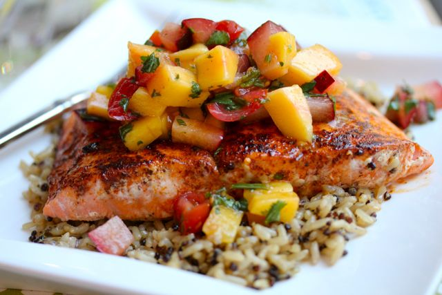 Locally caught Rockfish with a Mango Salsa for your Outer Banks Personal Chef Meal