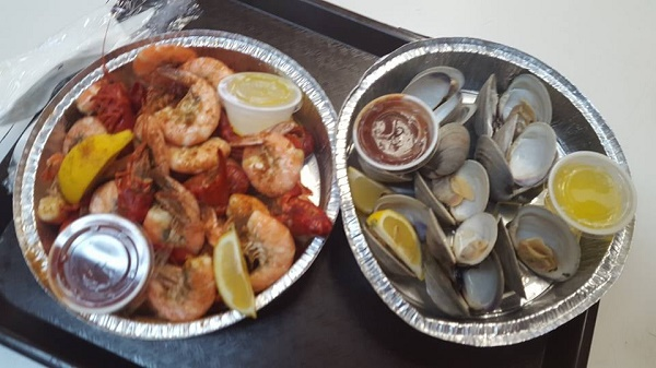 Locally Steamed Outer Banks Shrimp and clams