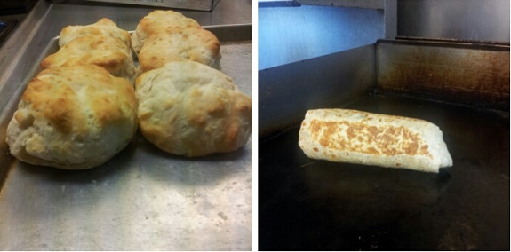 Breakfast Burritos and Fresh Biscuits Daily