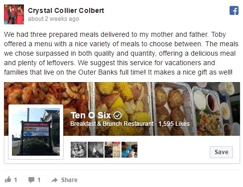 Outer Banks Meal Delivery, Prepared Meal Delivery